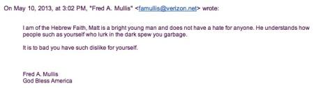 Fred Mullis Response