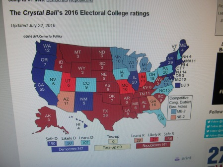 Msnbc Political Map.Experts Agree The Race Is Over Larry Sabato Center For Politics