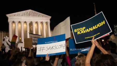 Protesters Gather at Supreme Court to Protest Kavanaugh Pick (July 10, 2018)
